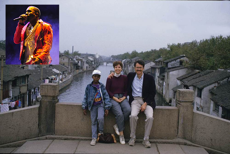 Here's a Photo of Kanye as a Kid in Nanjing in 1987