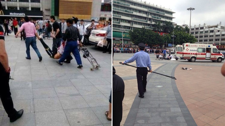 'Hero' fought off Guangzhou knife attacker with stick
