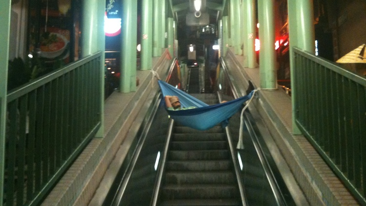 I hung out with the mysterious Hong Kong hammock man