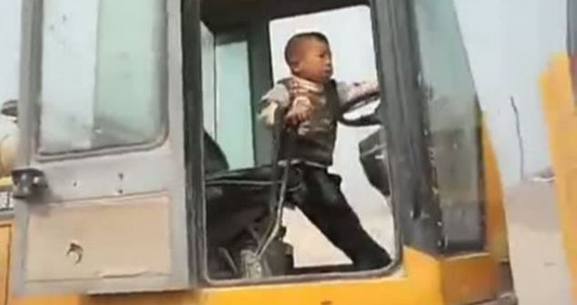 WATCH: Five-year-old Chinese boy drives digger