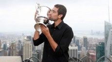 Chatting with US Open winner Marin Cilic prior to the Shanghai Rolex Masters.