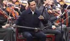 WATCH: Sichuan Party Secretary butchers erhu solo at New Year's orchestral performance