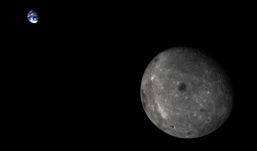 China's Chang'e 5-T1 experimental spacecraft returned these spectacular images to control center in Beijing