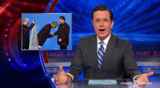 WATCH: The Colbert Report goes completely insane over Obama in China