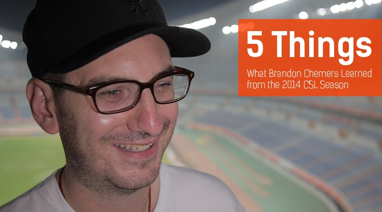 5 Things: What Brandon Chemers Learned from the 2014 CSL Season