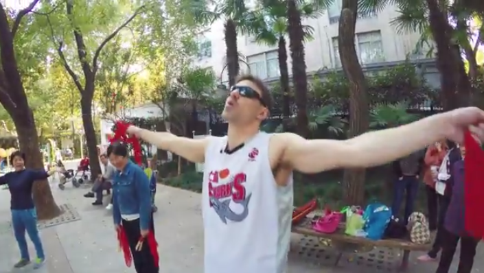 WATCH: Donnie Does park fitness in China