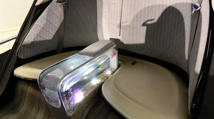 Chinese company makes driverless, fish-tank equipped car