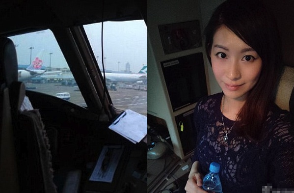 No, an 'attractive Chinese passenger' was not invited into CX cockpit 'because the plane was full'