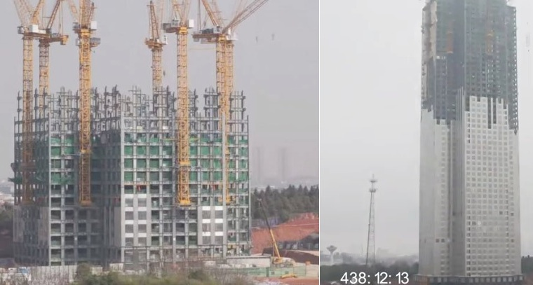 WATCH: China builds 57-story skyscraper in just 19 days