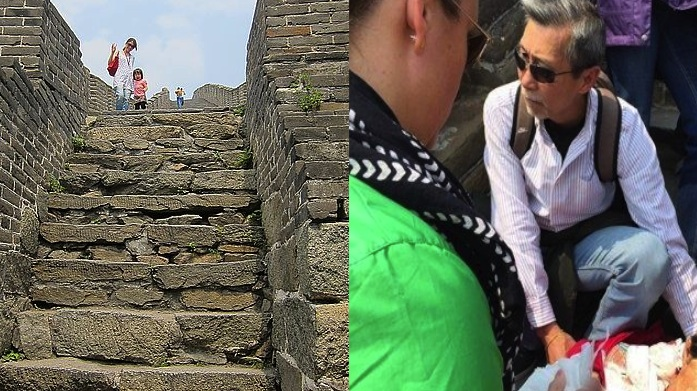 Canadian tourist accidentally kills old lady on Great Wall