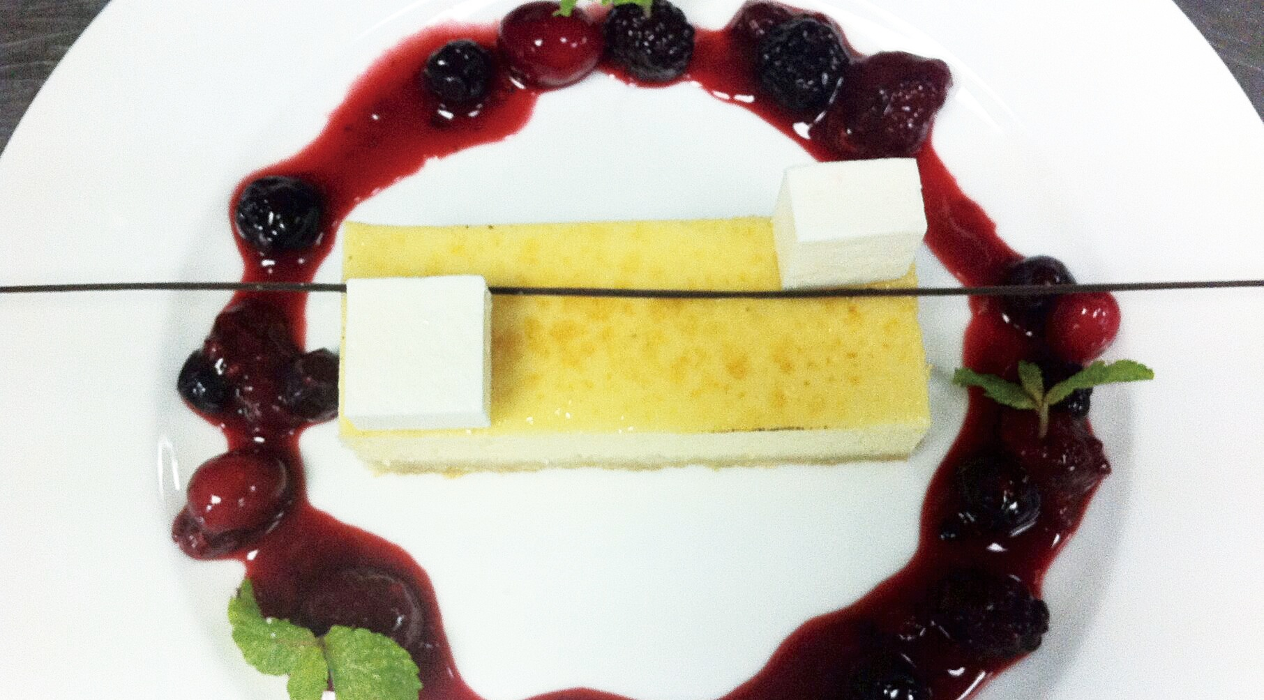 Home cooking: Cheesecake with mixed berry compote