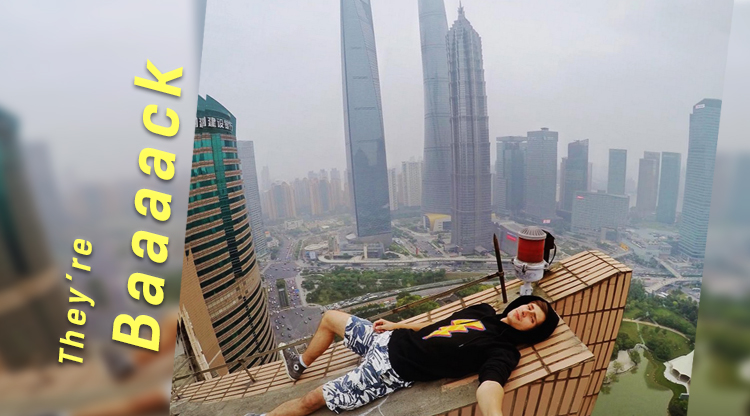 Return of the Russian daredevils: More photos from atop Shanghai's skyscrapers