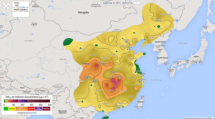 China's air pollution: mapped, color-coded and in real time